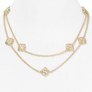 NWT Kendra Scott 14K plated Nemera necklace